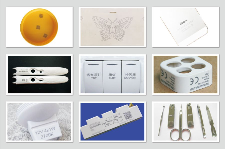 UV laser marking samples
